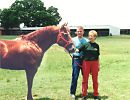 Ken and Pat Smith with On The Money Red, June, 1996, Victory Farms, Ada, OK
